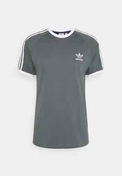 adidas Originals - 3 STRIPES TEE UNISEX - T-Shirt print - blue oxide