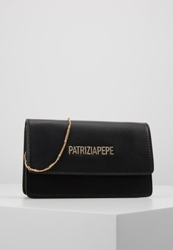 Patrizia Pepe - MINI BAG PIPING LOGO - Torba na ramię - nero