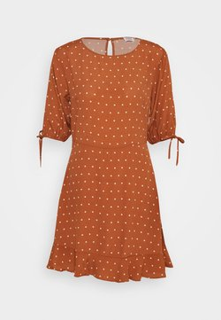 Cotton On - LUCIE SLEEVE MINI DRESS - Day dress - amy mid brown