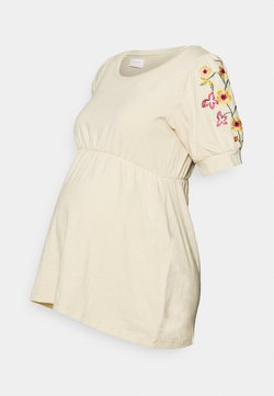 MAMALICIOUS - MLESME - Camiseta estampada - parchment