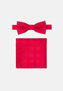 Only & Sons - ONSTHOMAS PATTERN BOWTIE SET - Einstecktuch - pompeian red