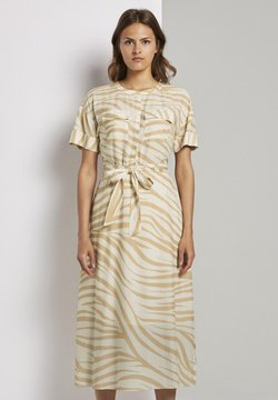 mine to five TOM TAILOR - PRINT - Blusenkleid - ecru zebra design
