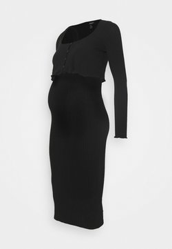 New Look Maternity - DRESS CARDIGAN SET - Chaqueta de punto - black