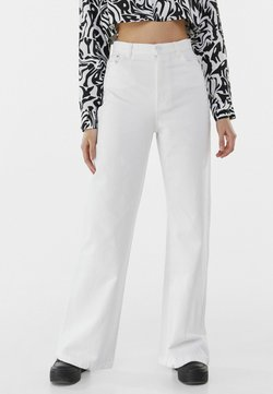 Bershka - Fließende - Jean flare - white