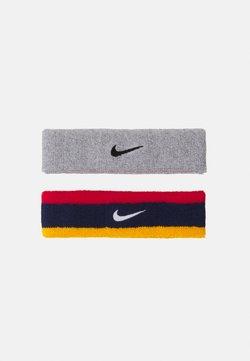 Nike Performance - HEADBAND 2 PACK UNISEX - Andre accessories - midnight navy/university red/university gold/white/grey