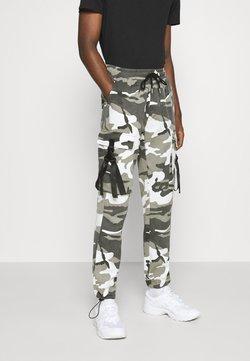 Sixth June - CAMO STRAP PANTS - Pantalon cargo - black