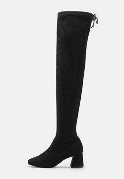 Miss Selfridge - OTIS BRICKS HIGH LEG VERSION - Stivali sopra il ginocchio - black