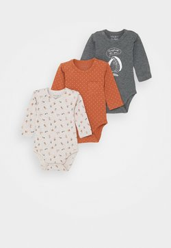 Hust & Claire - BASE BABY 3 PACK UNISEX - Body - rusty