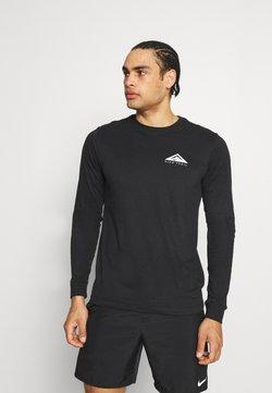 Nike Performance - DRY TEE TRAIL - T-shirt à manches longues - black