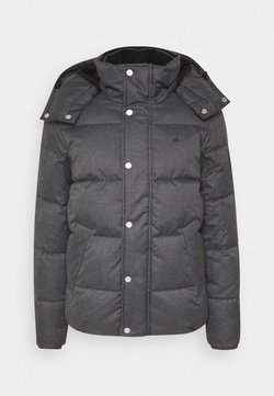 Calvin Klein - QUILTED HOODED JACKET - Winterjacke - grey