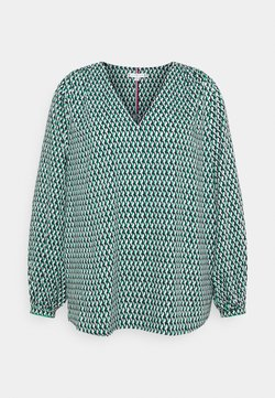 Tommy Hilfiger Curve - POPLIN BLOUSE - Bluse - court side geo/primary green