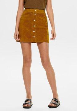 ONLY - Leather skirt - honey ginger