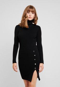 Vero Moda - VMABA BUTTON ROLLNECK DRESS - Jumper dress - black