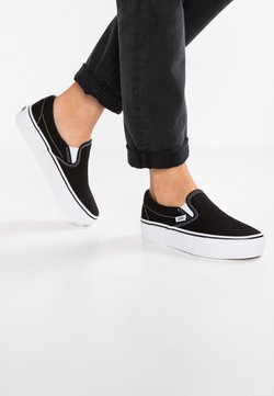 Vans - CLASSIC PLATFORM - Loaferit/pistokkaat - black