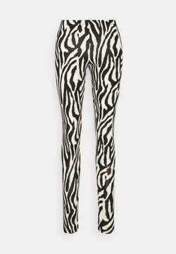 Saint Tropez - DAVINA - Leggings - Hosen - black grand zebra