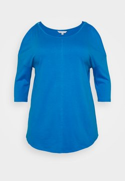 CAPSULE by Simply Be - COLD SHOULDER TUNIC - Langarmshirt - blue