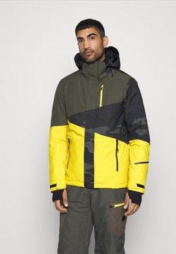 Brunotti - IDAHO MENS SNOWJACKET - Snowboard jacket - cyber yellow