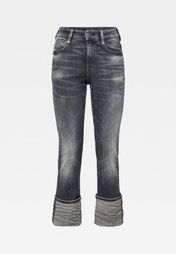 G-Star - NOXER HIGH STRAIGHT - Jeans Straight Leg - vintage basalt destroyed