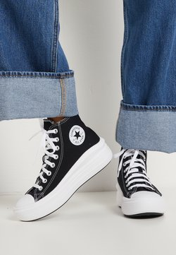 Converse - CHUCK TAYLOR ALL STAR MOVE - Sneakers hoog - black/natural ivory/white