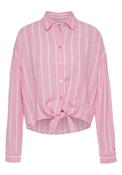 Tommy Jeans - TJW RELAXED FRONT KNOT  - Koszula - pink