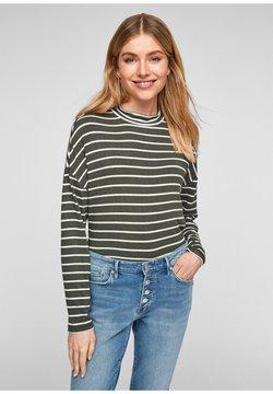 s.Oliver - Langarmshirt - khaki stripes