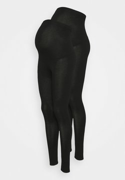 Dorothy Perkins Maternity - OVERBUMP LEGGING - Leggings - black