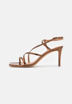 Pura Lopez - Sandals - mirror bronze
