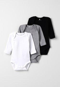 Name it - BABY BASIC 3 PACK - Body - black/white/lightgreymelange