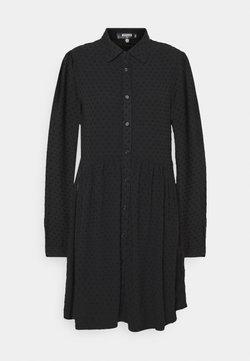 Missguided Tall - DOBBY SPOT SMOCK DRESS - Shirt dress - black