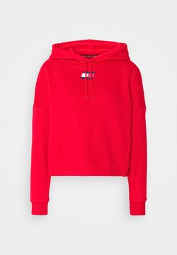 Tommy Hilfiger - CROPPED HOODY FLAG LOGO - Huppari - primary red