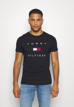 Tommy Hilfiger - FLAG TEE - T-shirt con stampa - blue