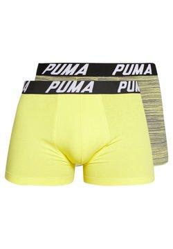 Puma - SPACEDYE STRIPE BOXER 2 PACK - Shorty - yellow / grey