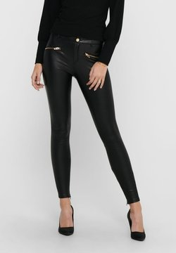 ONLY - Pantalon en cuir - black