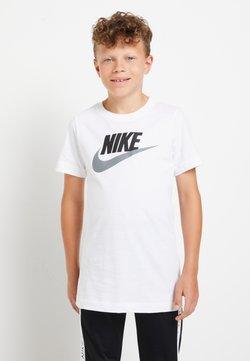 Nike Sportswear - FUTURA ICON - T-shirt z nadrukiem - white/smoke grey