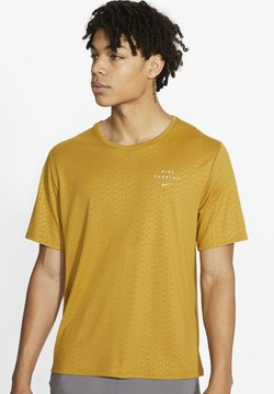 Nike Performance - RUN DVN MILER  - T-shirt con stampa - ochre