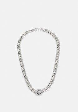 Guess - LION COIN CHAIN NECKLACE UNISEX - Kaulakoru - silver-coloured/black