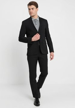Calvin Klein Tailored - WOOL NATURAL STRETCH FITTED SUIT - Jakkesæt - perfect black