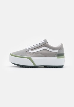 Vans - OLD SKOOL STACKED - Sneaker low - drizzle/true white
