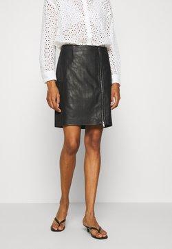 InWear - ZAVANNA SKIRT - Leather skirt - black