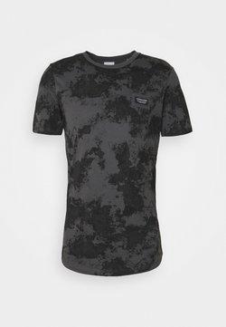 Jack & Jones - JCOLANDON TEE CREW NECK - Print T-shirt - asphalt