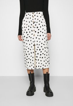 Who What Wear - BUTTON FRONT PENCIL SKIRT - Bleistiftrock - cream