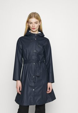 KnowledgeCotton Apparel - JASMINE LONG RAIN JACKET - Regenjacke / wasserabweisende Jacke - total eclipse