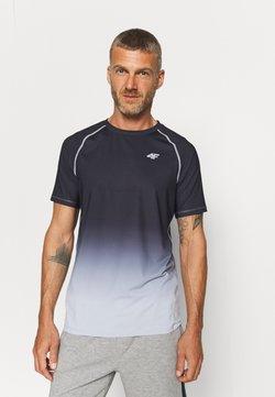 4F - Men's training T-shirt - T-Shirt print - black