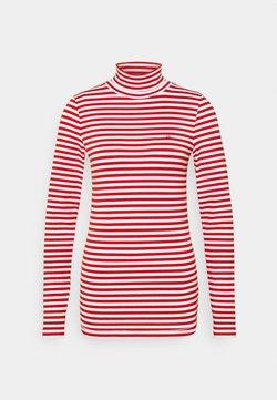 Calvin Klein - STRIPE TURTLE NECK - Langarmshirt - red