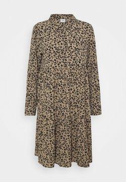 JDY - JDYPIPER DRESS - Blusenkleid - silver mink/black leo