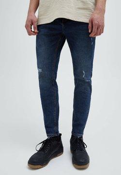 PULL&BEAR - Jeansy Slim Fit - mottled dark blue