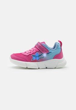 Geox - ARIL GIRL - Sneaker low - fuchsia/sky