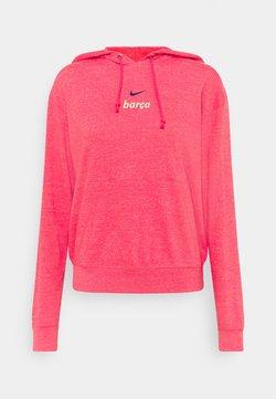 Nike Performance - FC BARCELONA GYM HOODIE - Club wear - fusion red/deep royal blue
