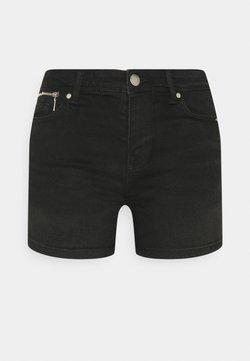 ONLY - ONLISA LIFE ZIP - Shorts di jeans - black denim