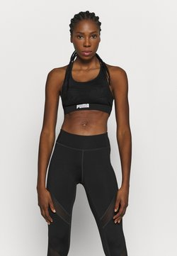 Puma - PAMELA REIF X PUMA LAYER SPORT CROP TOP - Sport BH - black